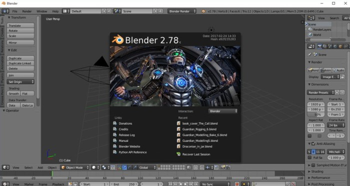How to apply and scale images in Blender2.78c