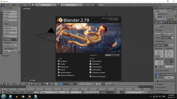 How to apply, scale, rotate and relocate image textures in Blender 2.79