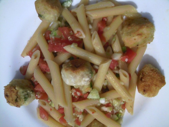 Vegan Penne with Polpette